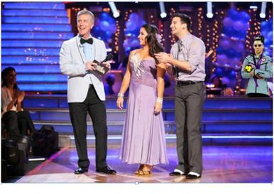 Aly and partner Mark Ballas might have danced well, but McKayla is not amused.